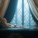 Malefica bella durmiente durmiendo